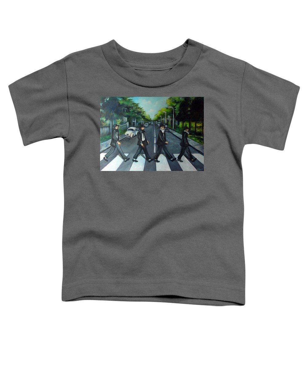 Surreal Toddler T-Shirt featuring the painting Rabbi Road by Valerie Vescovi