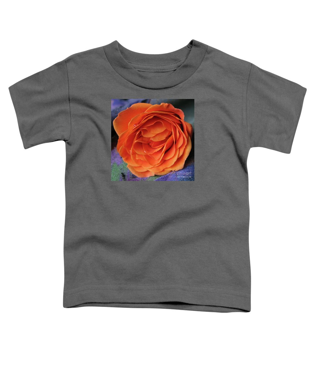 Rose Toddler T-Shirt featuring the photograph Really Orange Rose by Ann Horn