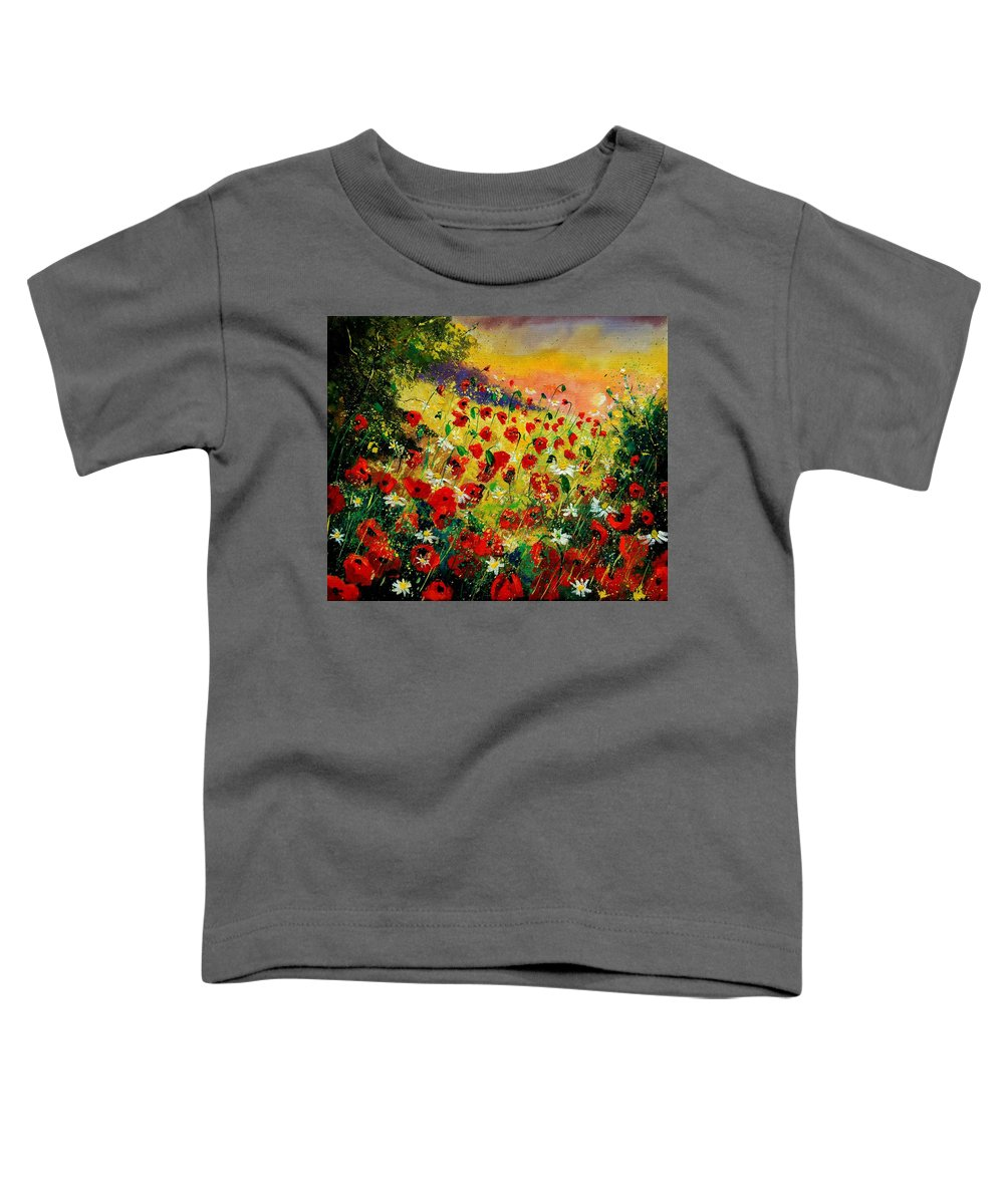 Tree Toddler T-Shirt featuring the painting Red Poppies by Pol Ledent