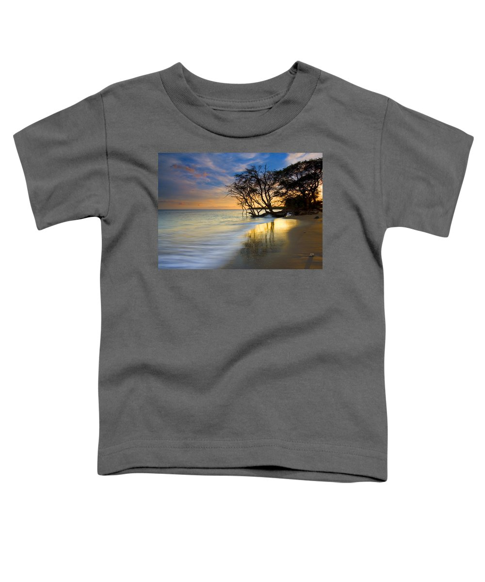 Waves Toddler T-Shirt featuring the photograph Reflections Of Paradise by Mike Dawson