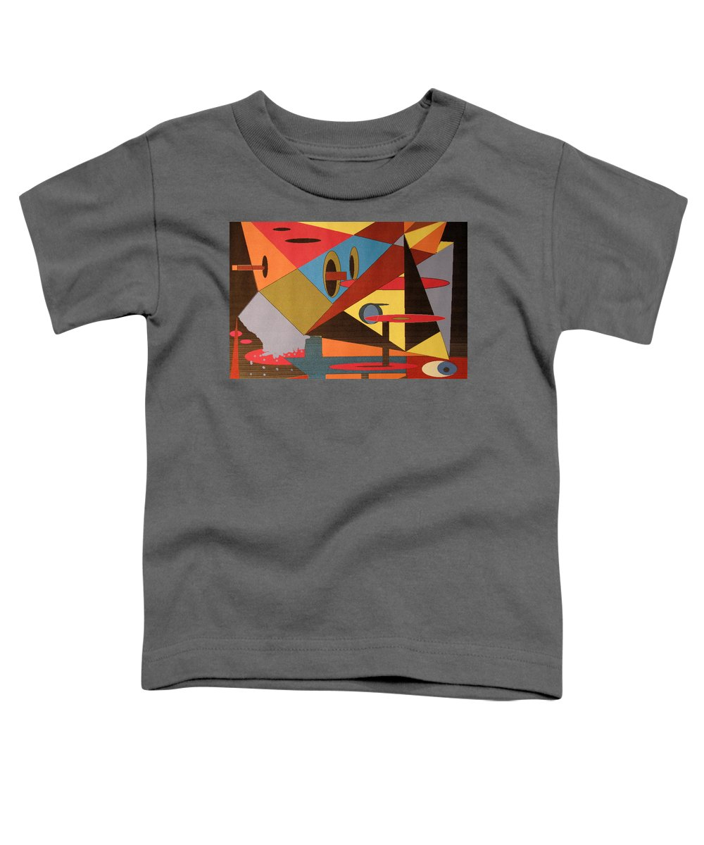 Abstract Toddler T-Shirt featuring the digital art Regret by Ian MacDonald