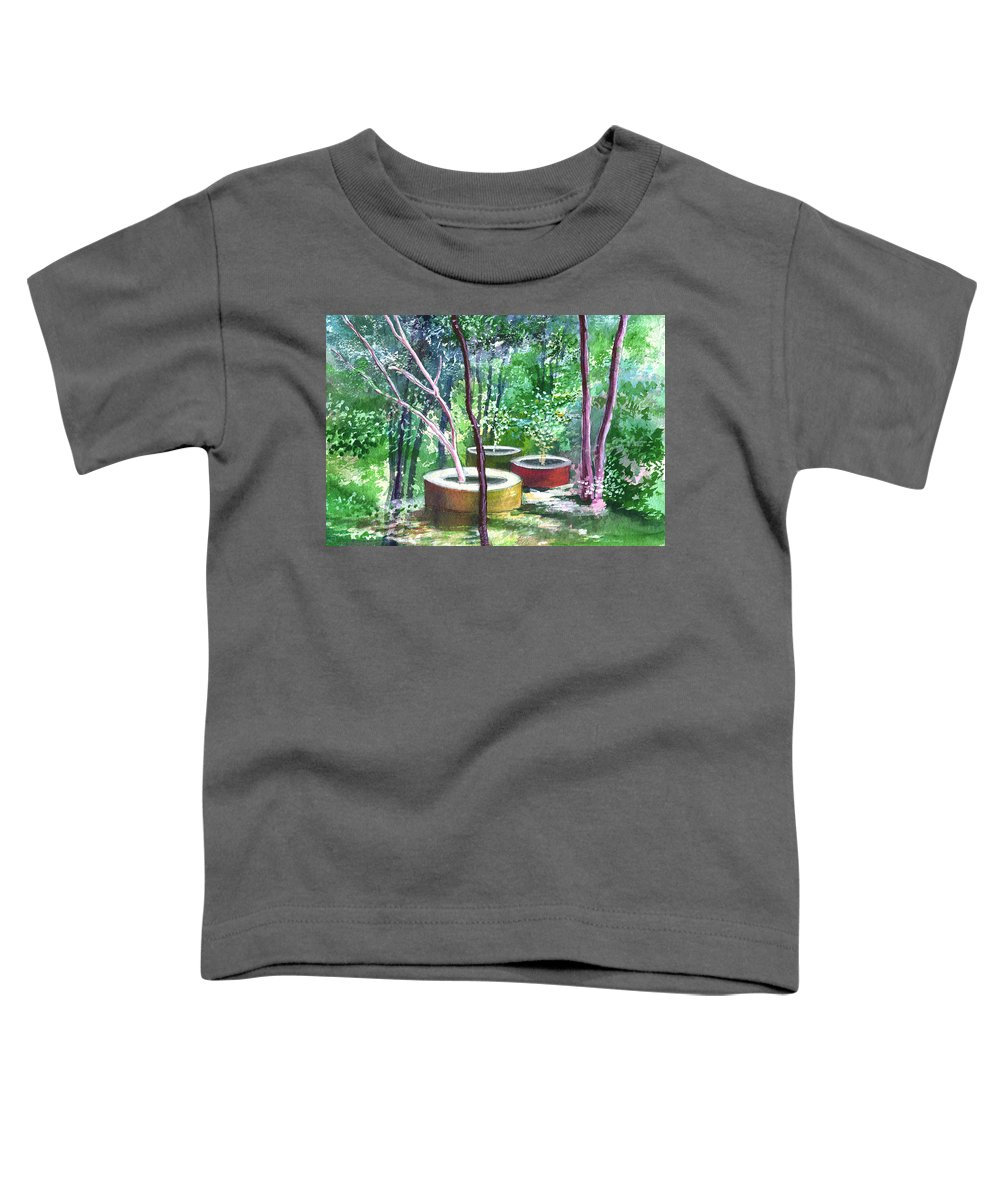 Opaque Landscape Toddler T-Shirt featuring the painting Relax Here by Anil Nene