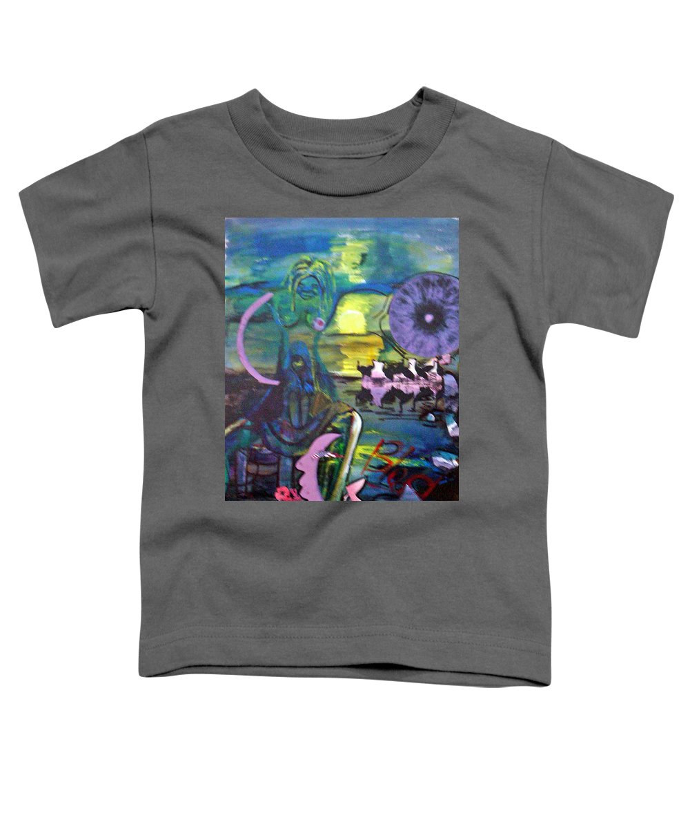 Water Toddler T-Shirt featuring the painting Remembering 9-11 by Peggy Blood