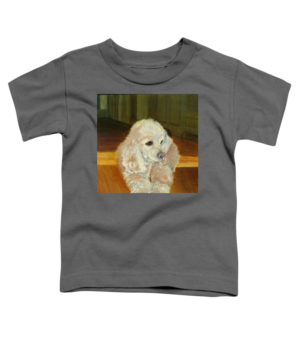 Animal Toddler T-Shirt featuring the painting Remembering Morgan by Paula Emery