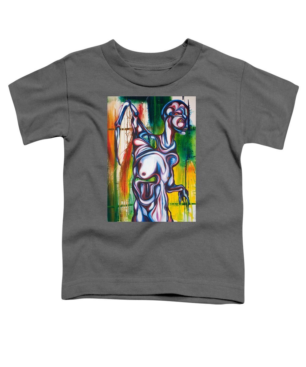 Monster Toddler T-Shirt featuring the painting Rising Son by Sheridan Furrer