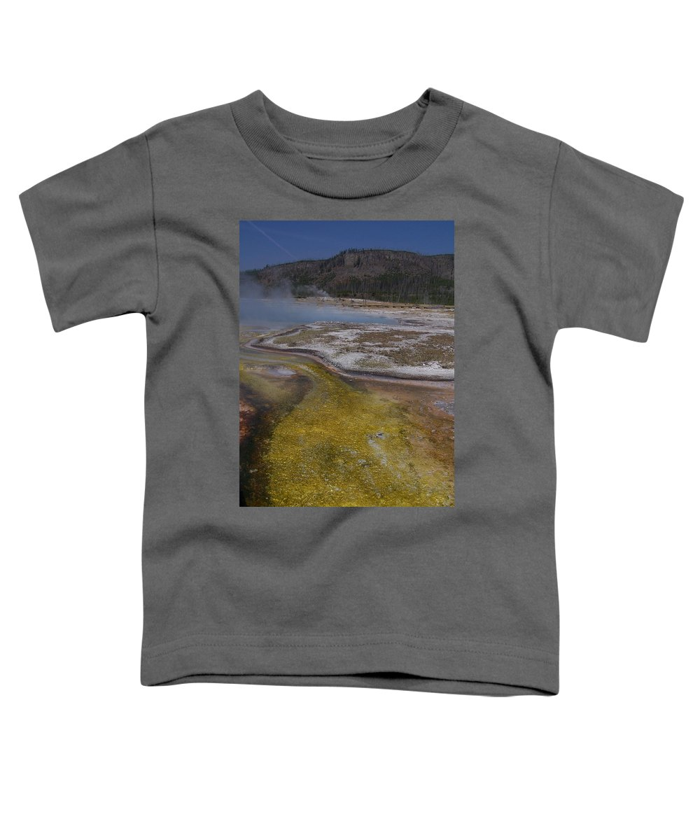 Geyser Toddler T-Shirt featuring the photograph River Of Gold by Gale Cochran-Smith