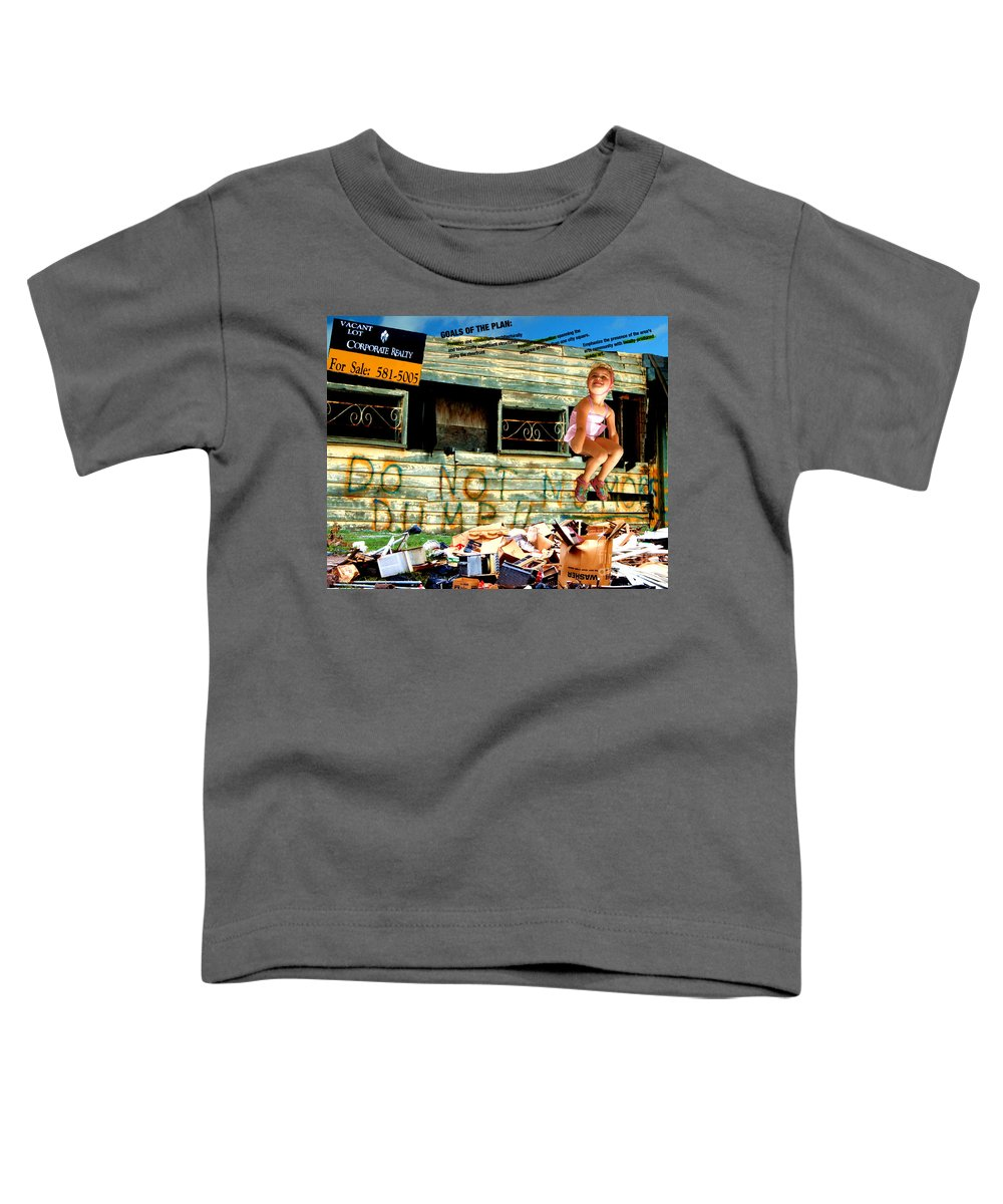 Riverfront Development Toddler T-Shirt featuring the photograph Riverfront Visions by Ze DaLuz