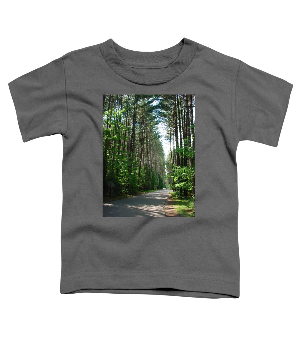 Fish Creek Toddler T-Shirt featuring the photograph Roadway At Fish Creek by Jerrold Carton