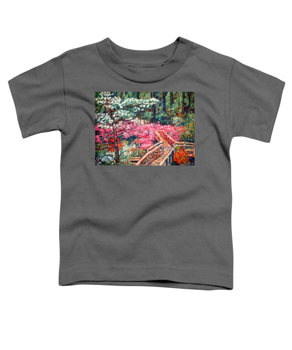 Garden Toddler T-Shirt featuring the painting Roanoke Beauty by Kendall Kessler