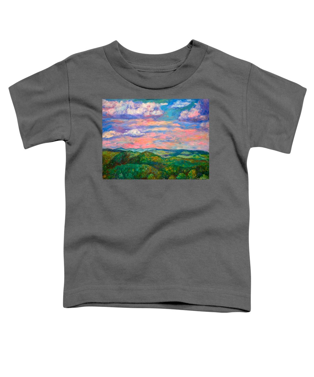 Landscape Paintings Toddler T-Shirt featuring the painting Rock Castle Gorge by Kendall Kessler