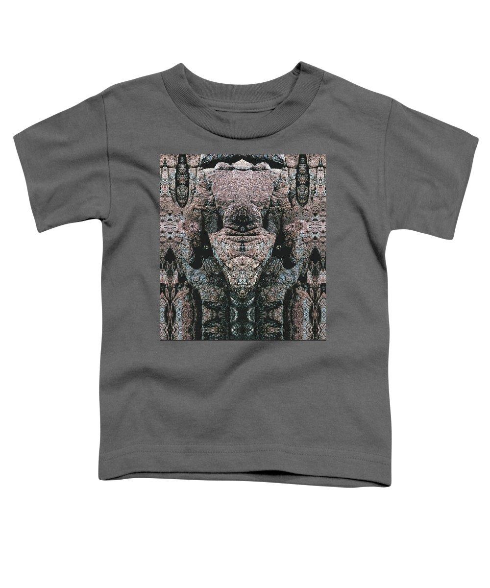 Rocks Toddler T-Shirt featuring the digital art Rock Gods Elephant Stonemen Of Ogunquit by Nancy Griswold