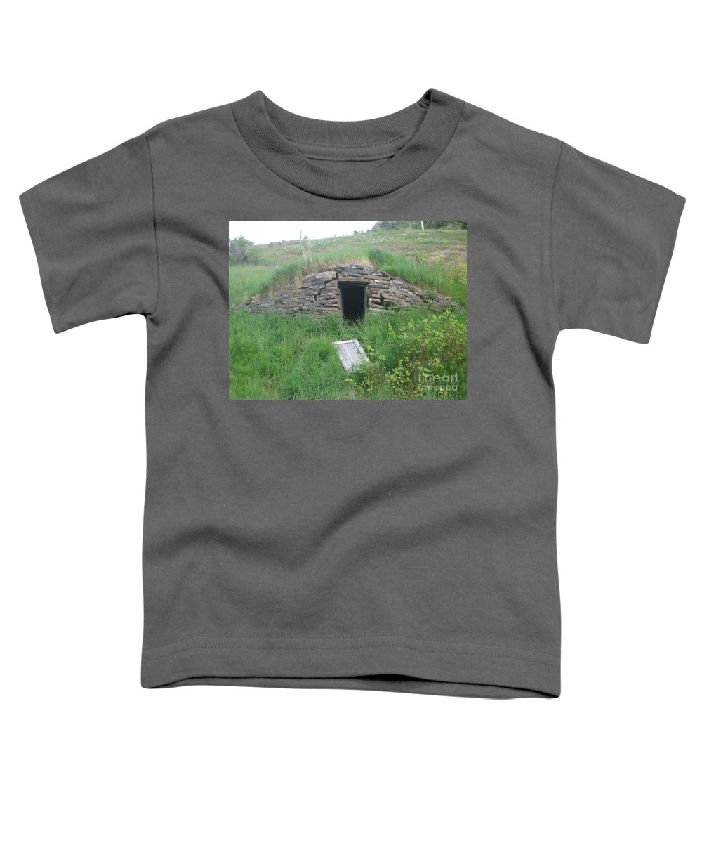Photograph Cellar Old Green Newfoundland Toddler T-Shirt featuring the photograph Root Cellar by Seon-Jeong Kim