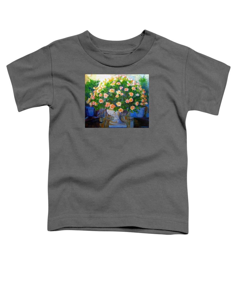 Rose Toddler T-Shirt featuring the painting Roses At Table Bay by Michael Durst