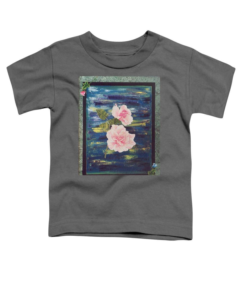 Rose Toddler T-Shirt featuring the painting Roses by Micah Guenther