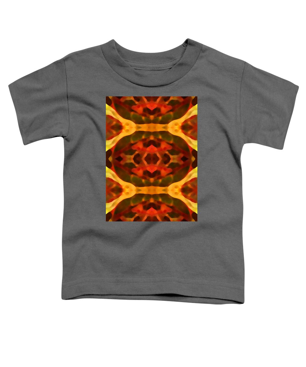 Abstract Painting Toddler T-Shirt featuring the digital art Ruby Crystal Pattern by Amy Vangsgard