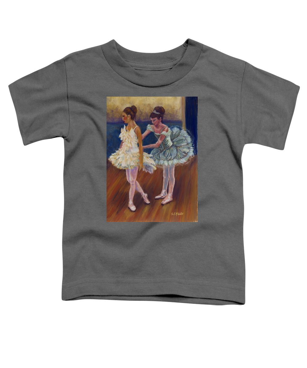 Ballerina Toddler T-Shirt featuring the painting Ruffled Feathers by Sharon E Allen