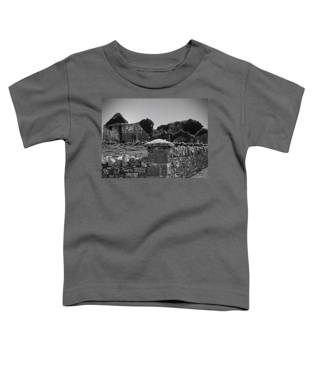Irish Toddler T-Shirt featuring the photograph Ruins In The Burren County Clare Ireland by Teresa Mucha