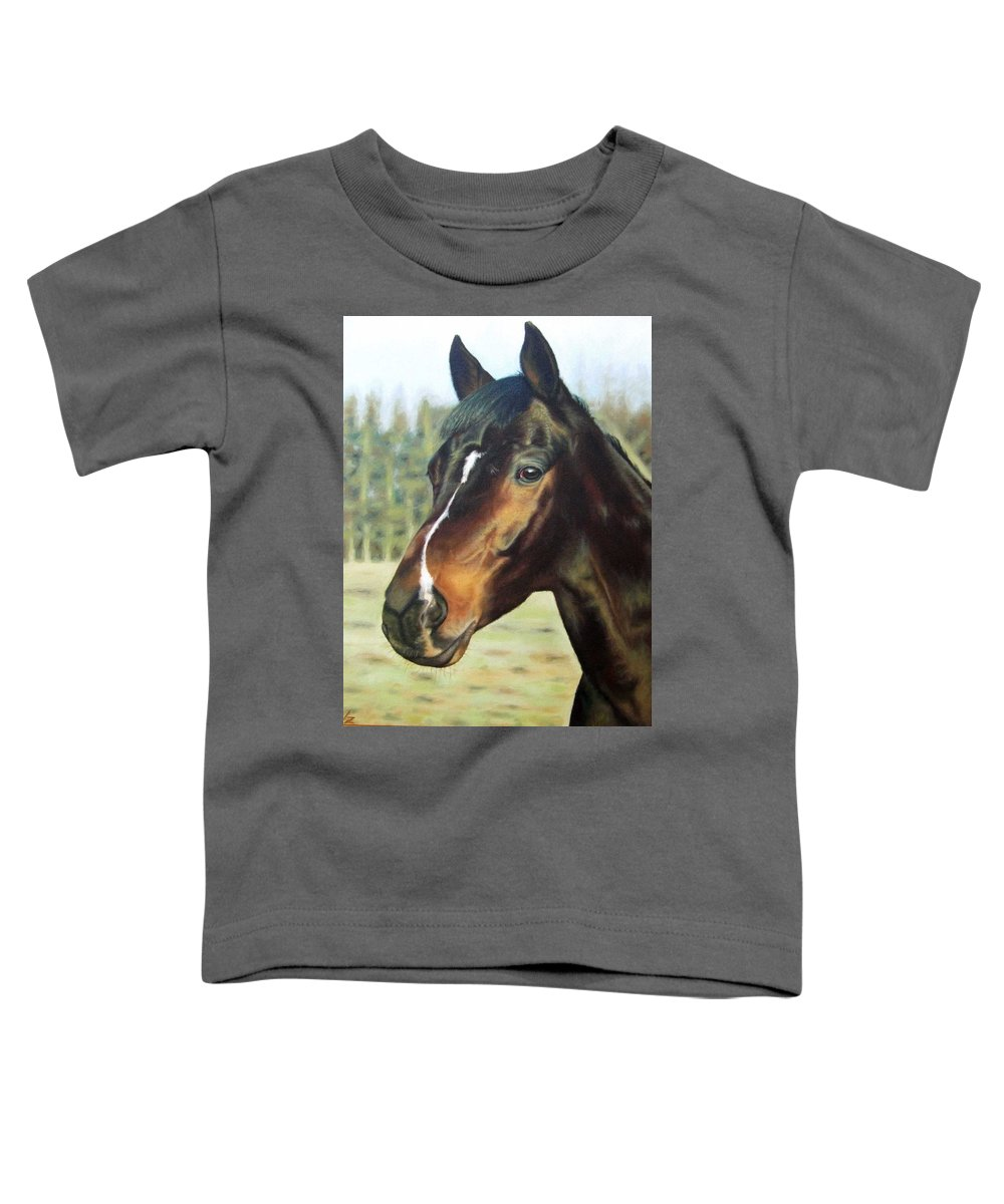 Horse Toddler T-Shirt featuring the painting Russian Horse by Nicole Zeug