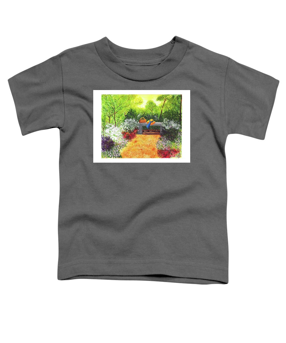 Garden Painting Toddler T-Shirt featuring the painting Sanctuary by Patricia Griffin Brett