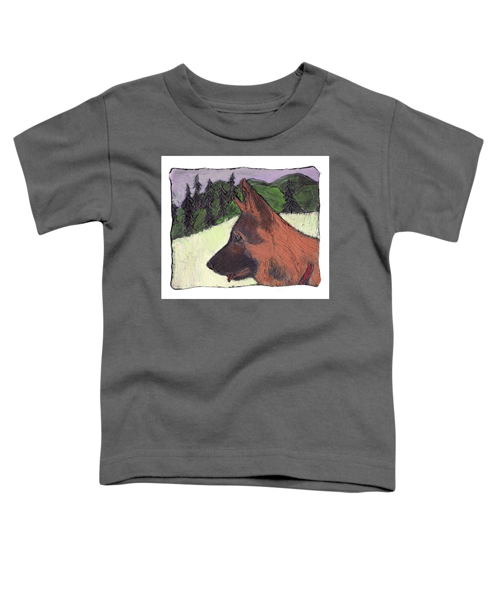 Dog Toddler T-Shirt featuring the painting Sarge by Wayne Potrafka