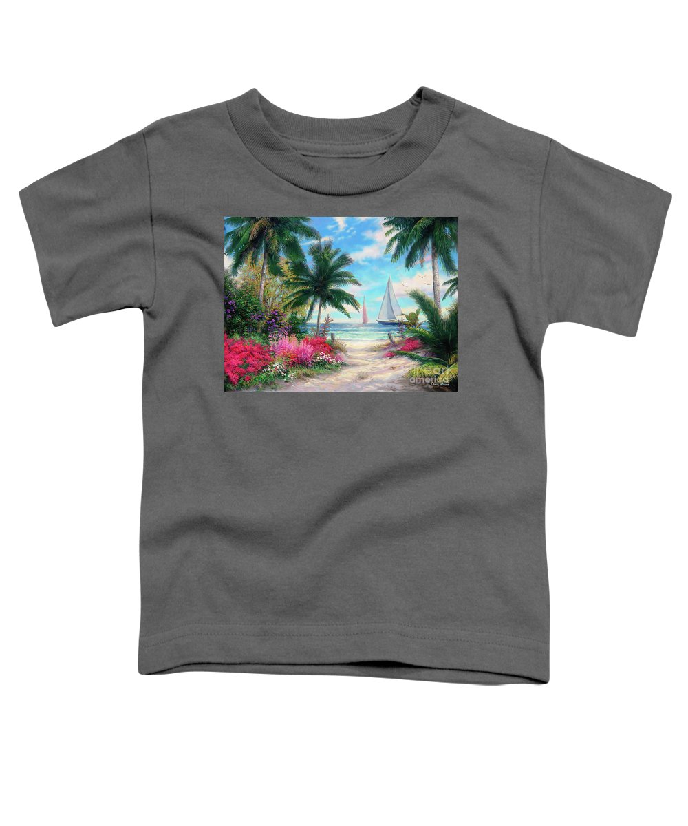 Tropical Toddler T-Shirt featuring the painting Sea Breeze Trail by Chuck Pinson