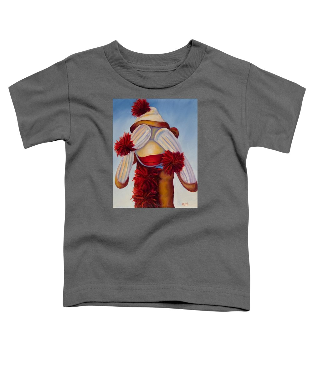 Children Toddler T-Shirt featuring the painting See No Bad Stuff by Shannon Grissom