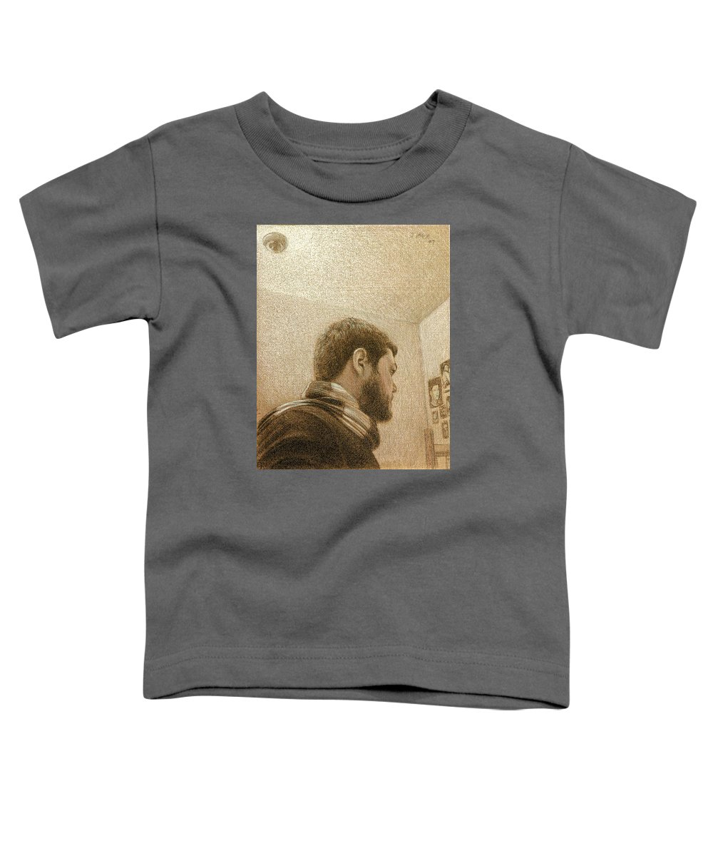 Toddler T-Shirt featuring the painting Self by Joe Velez