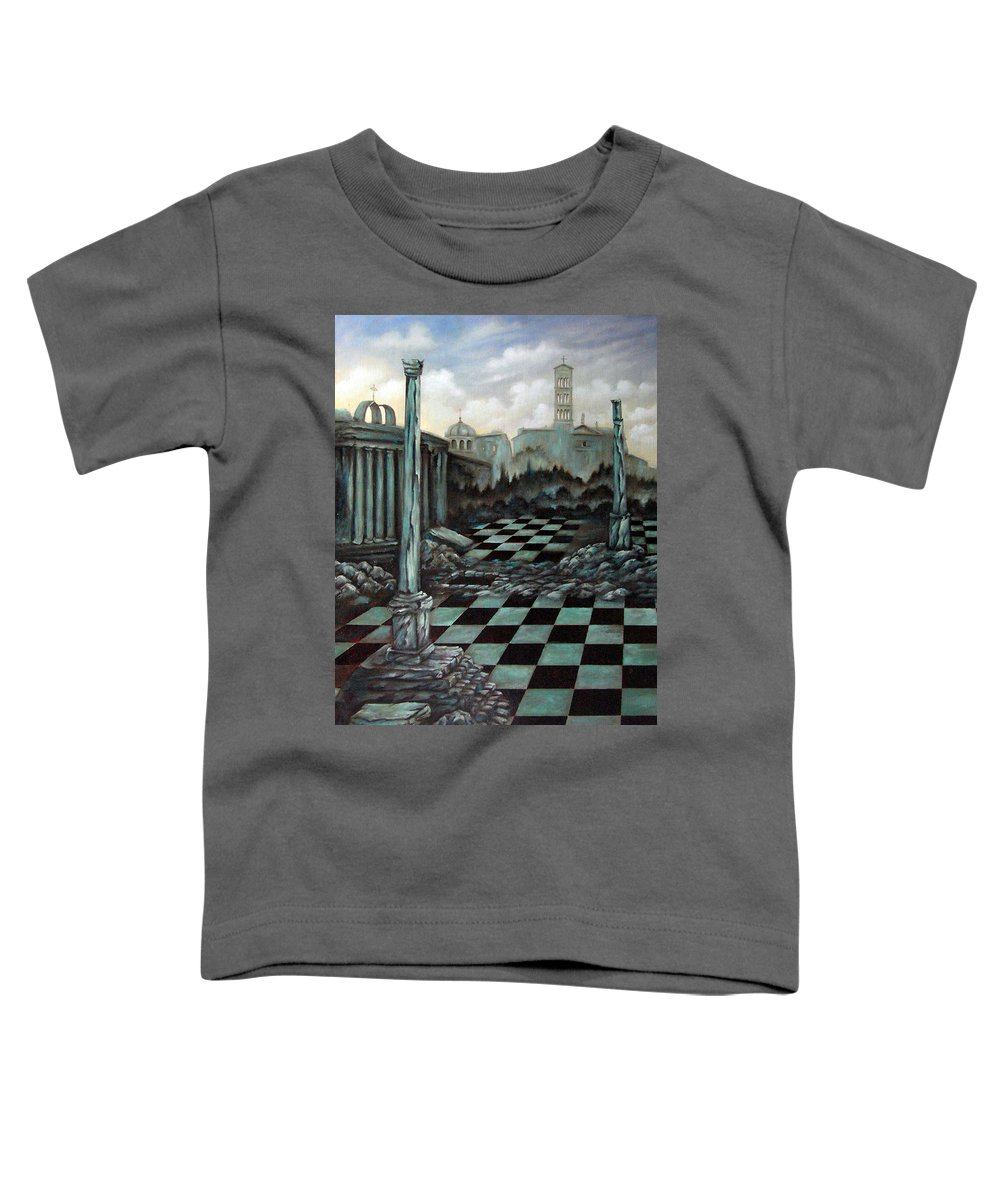Surreal Toddler T-Shirt featuring the painting Sepulchre by Valerie Vescovi