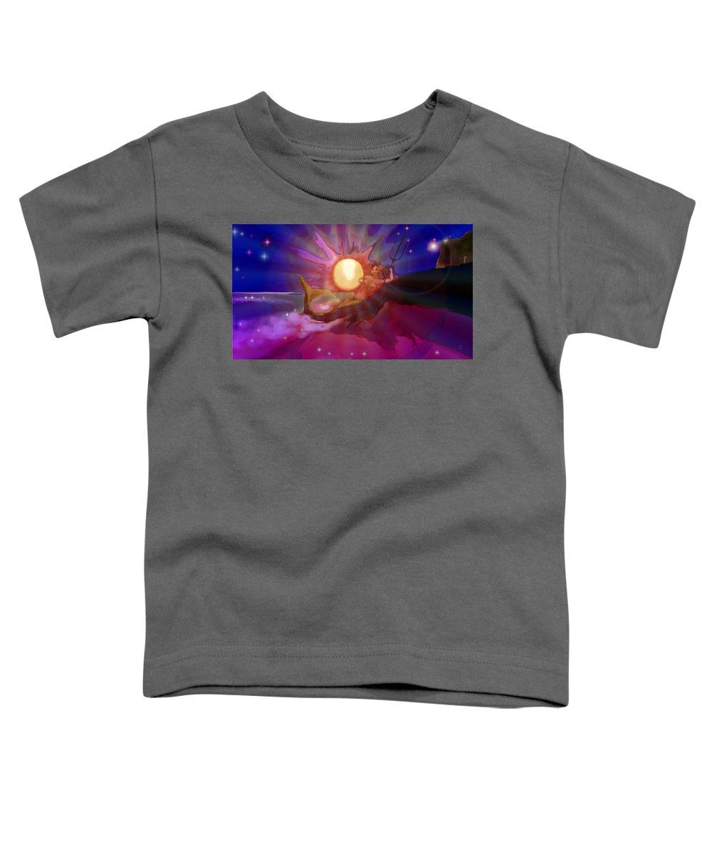 Sera Toddler T-Shirt featuring the digital art Sera Maroon by Mark Kleinschnitz