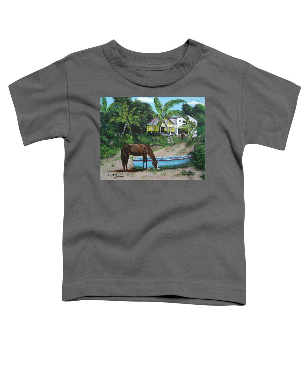 Aguadilla Toddler T-Shirt featuring the painting Serenity by Luis F Rodriguez