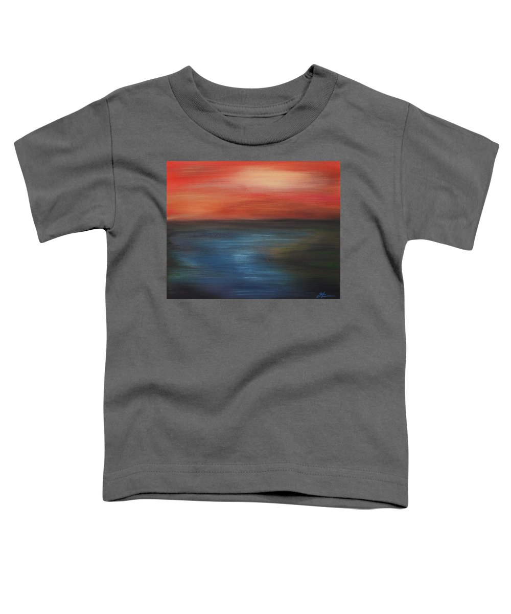 Scenic Toddler T-Shirt featuring the painting Serenity by Todd Hoover