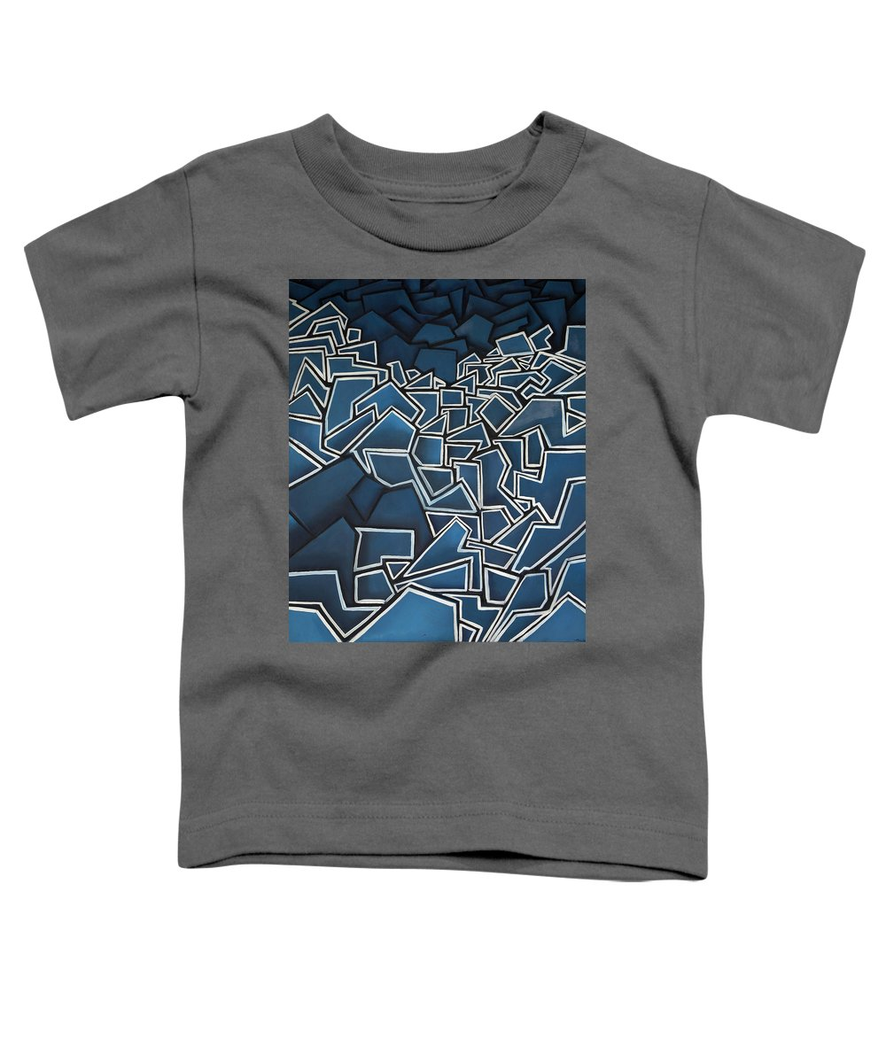 Abstract Toddler T-Shirt featuring the painting Shadderd Space by Thomas Valentine