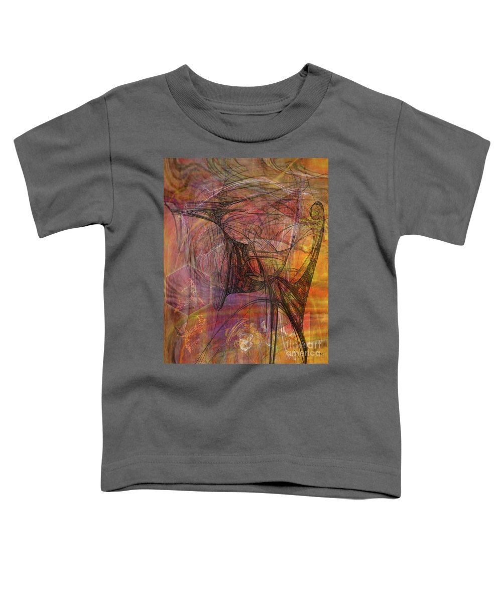 Shadow Dragon Toddler T-Shirt featuring the digital art Shadow Dragon by John Beck