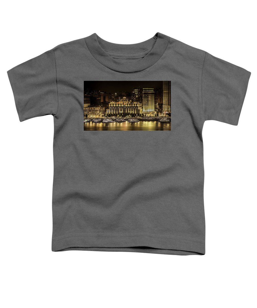Landscape Toddler T-Shirt featuring the photograph Shanghai Nights by Chris Cousins