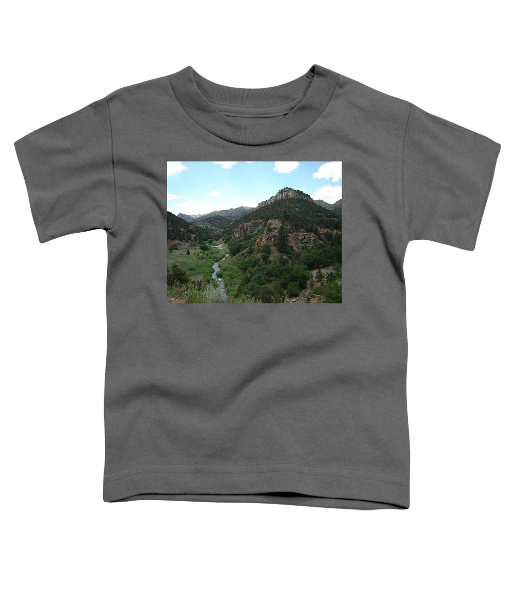 Shelf Road Toddler T-Shirt featuring the photograph Shelf Road Vista by Anita Burgermeister
