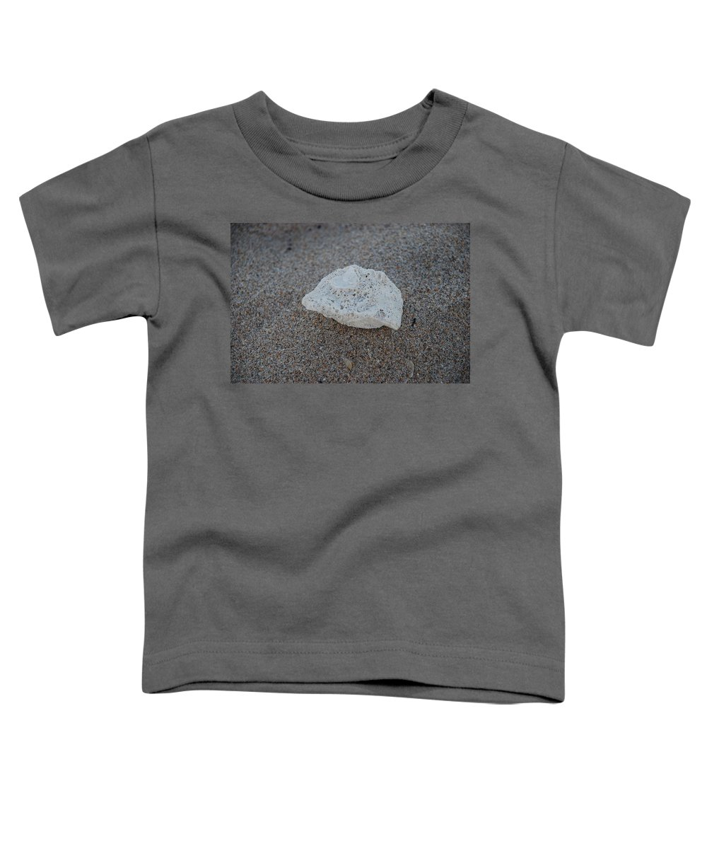 Shells Toddler T-Shirt featuring the photograph Shell And Sand by Rob Hans
