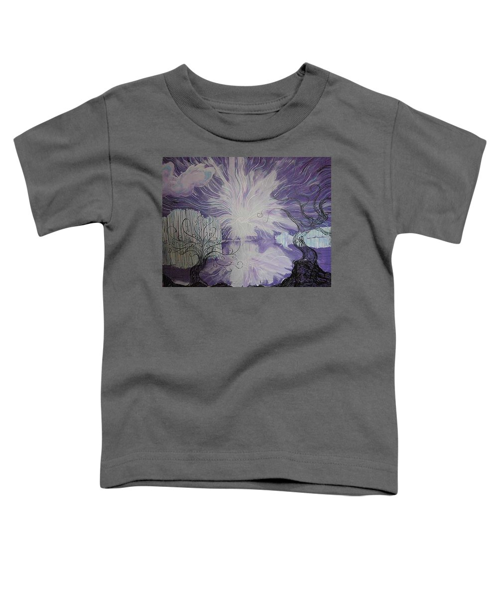Squiggleism Toddler T-Shirt featuring the painting Shore Dance by Stefan Duncan