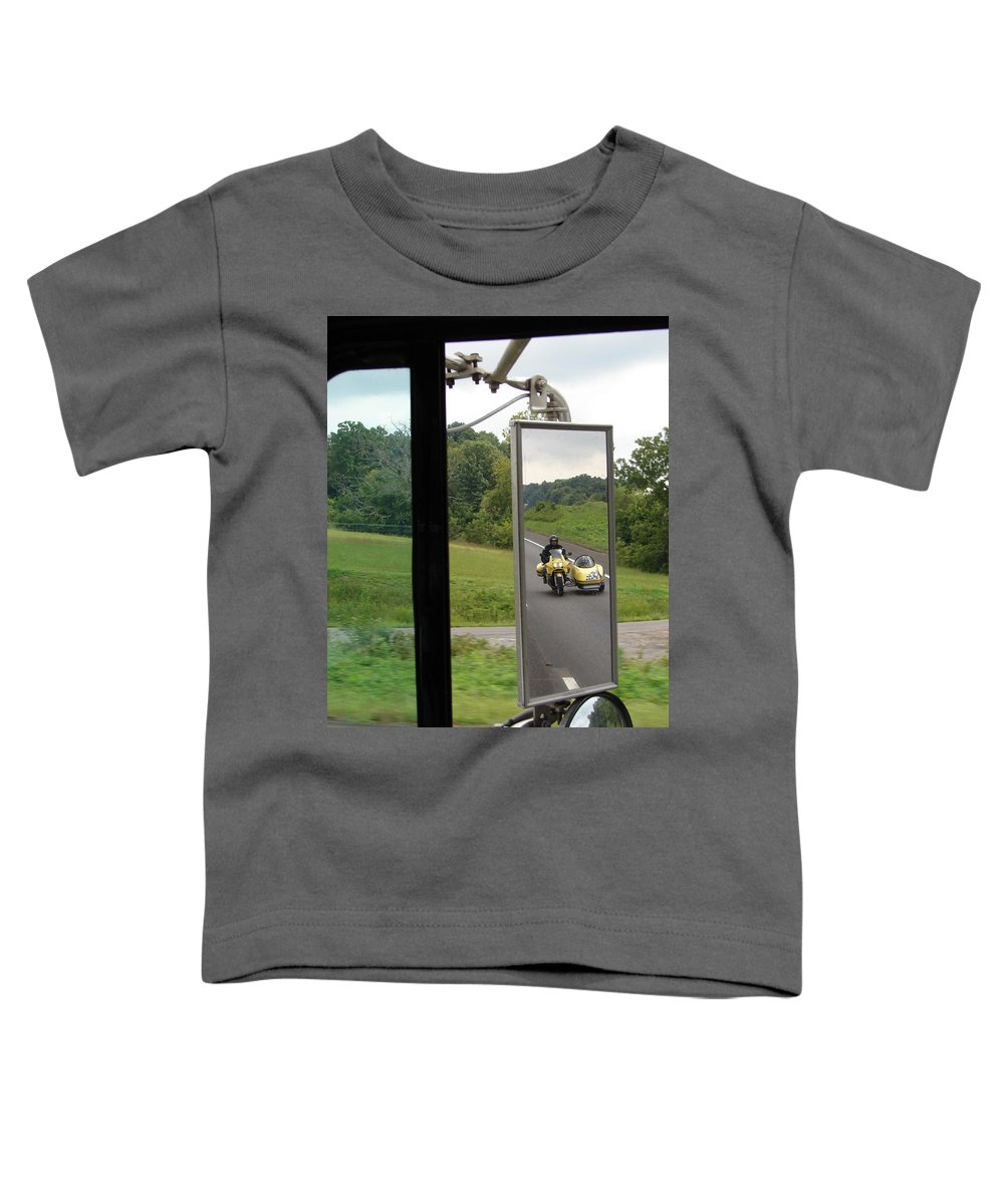 Truck Toddler T-Shirt featuring the photograph Side Car Framed by J R  Seymour