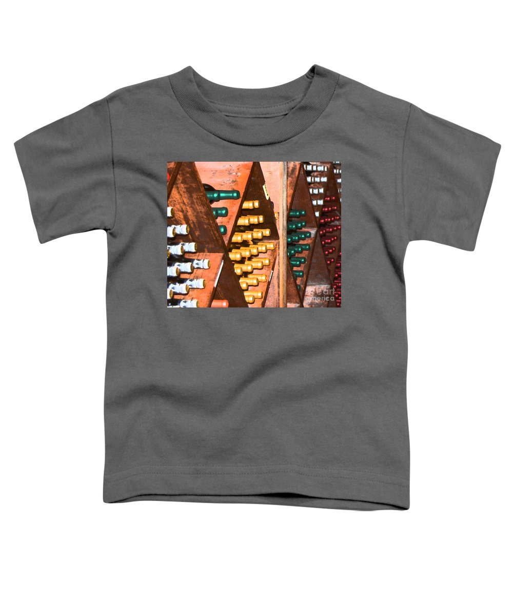 Wine Toddler T-Shirt featuring the photograph Sideways by Debbi Granruth