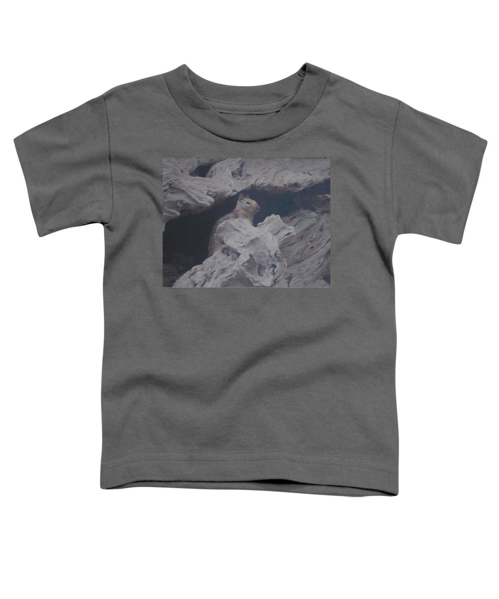 Squirrel Toddler T-Shirt featuring the photograph Silent Observer by Pharris Art