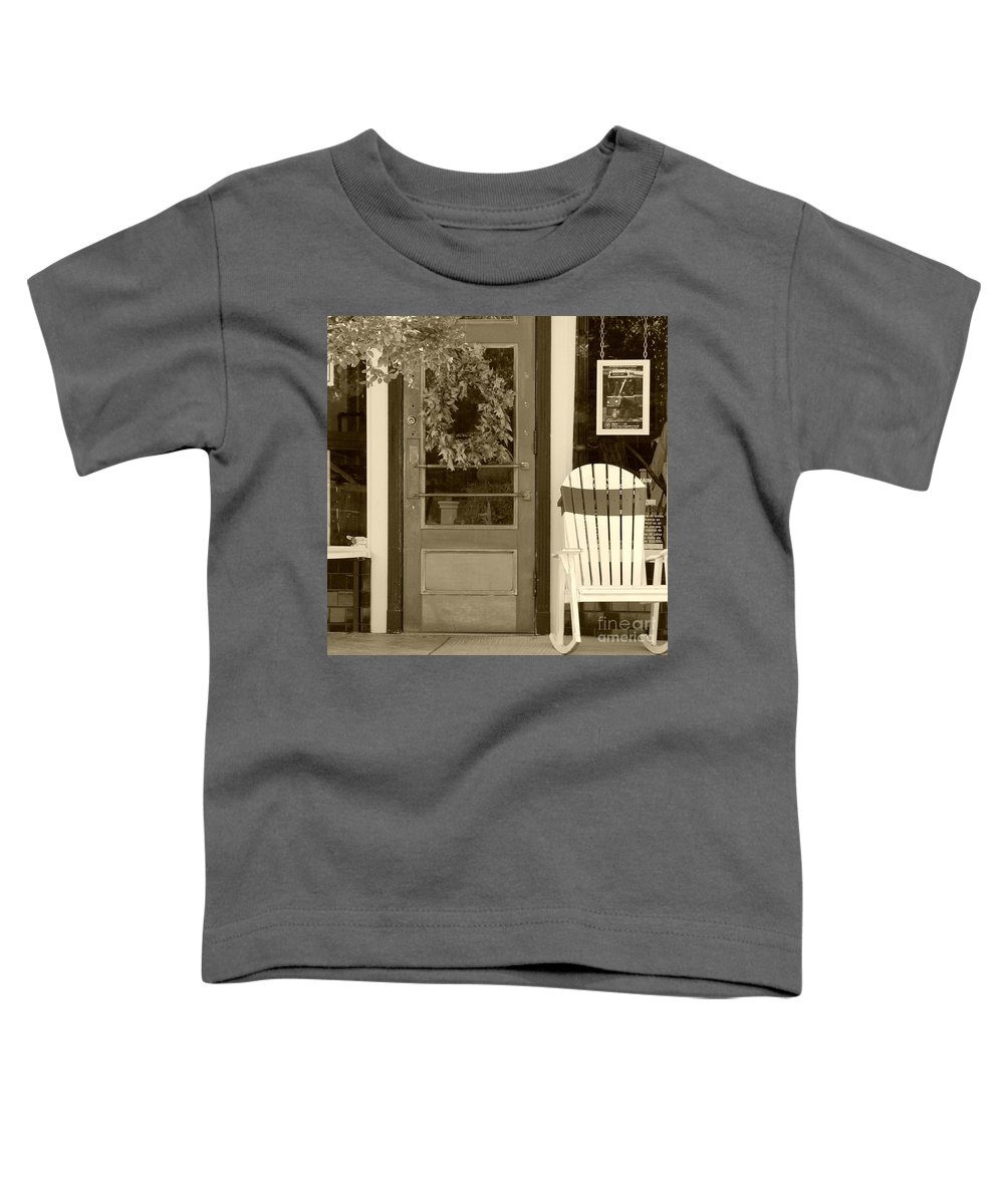 Rocking Chair Toddler T-Shirt featuring the photograph Simple Times by Debbi Granruth