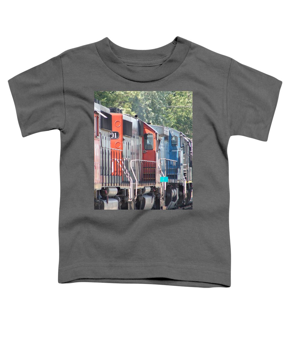 Toddler T-Shirt featuring the photograph Sitting In The Switching Yard by J R  Seymour