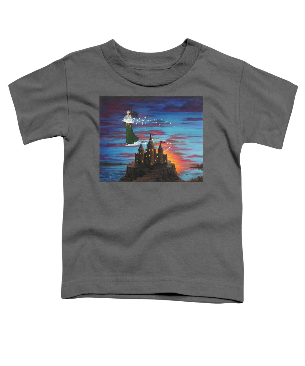 Wizard Toddler T-Shirt featuring the digital art Sky Walker by Roz Eve