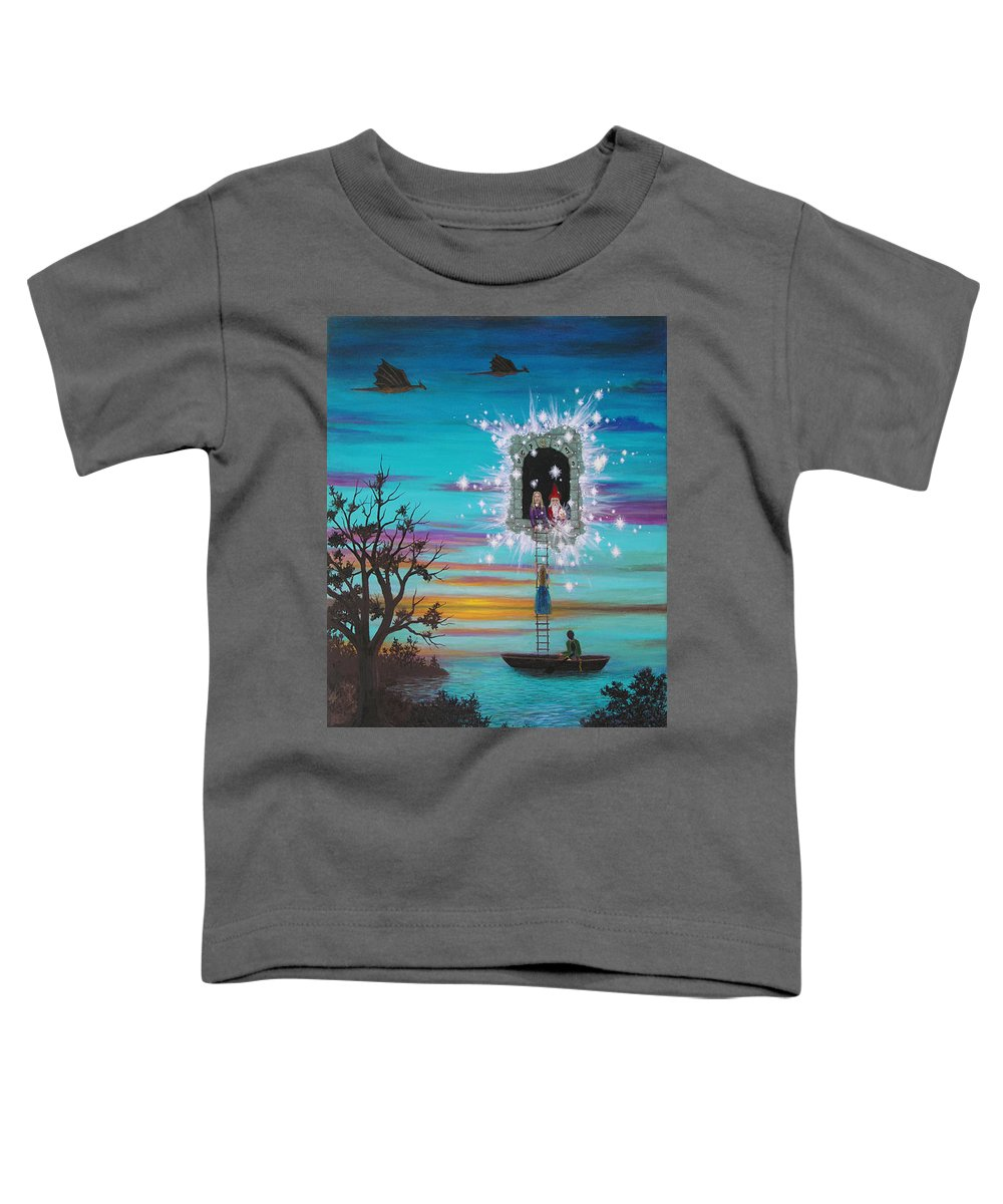 Fantasy Toddler T-Shirt featuring the painting Sky Window by Roz Eve