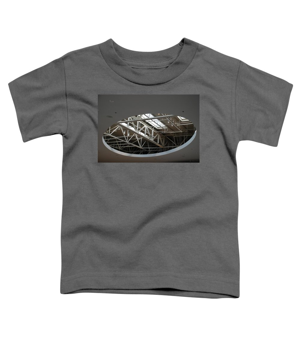 Ceiling Toddler T-Shirt featuring the photograph Skylight Gurders by Rob Hans