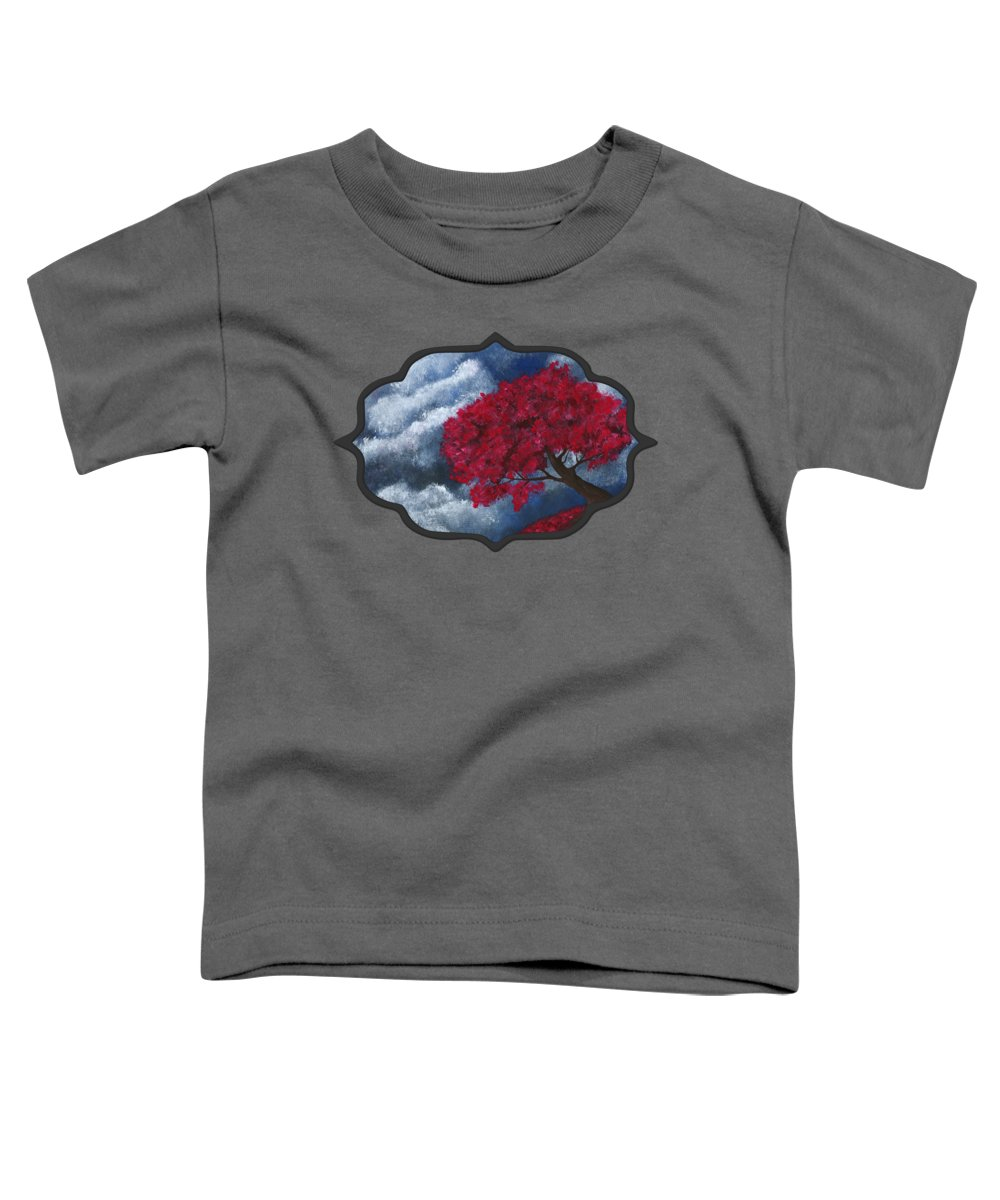 Tree Toddler T-Shirt featuring the painting Small World by Anastasiya Malakhova