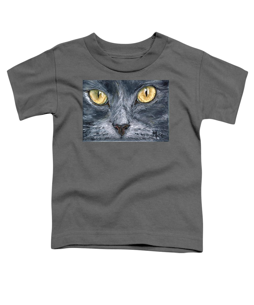 Charity Toddler T-Shirt featuring the painting Smokey by Mary-Lee Sanders