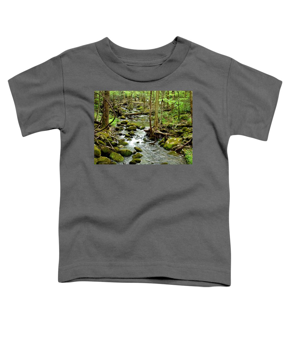Smoky Mountains Toddler T-Shirt featuring the photograph Smoky Mountain Stream 1 by Nancy Mueller
