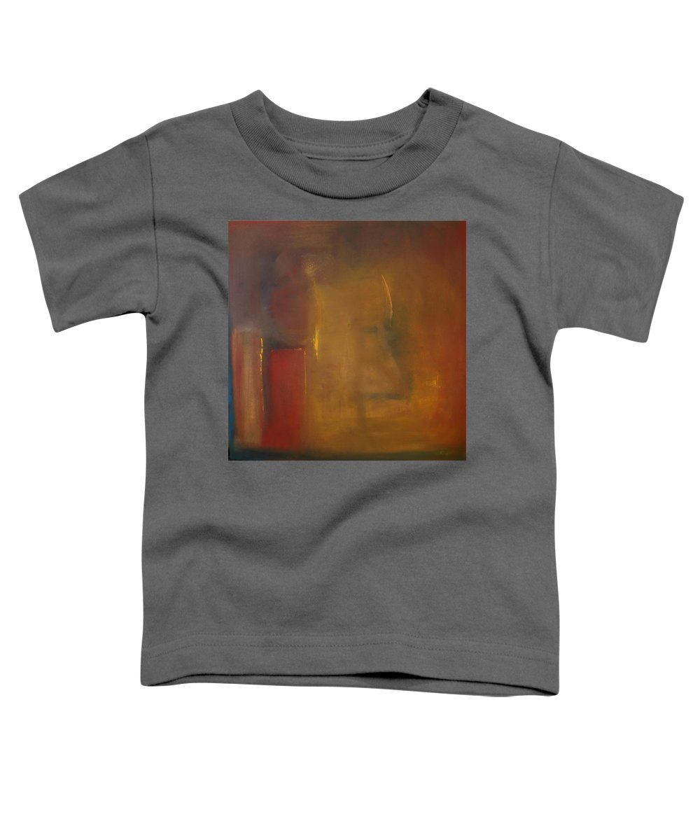Toddler T-Shirt featuring the painting Softly Reflecting by Jack Diamond