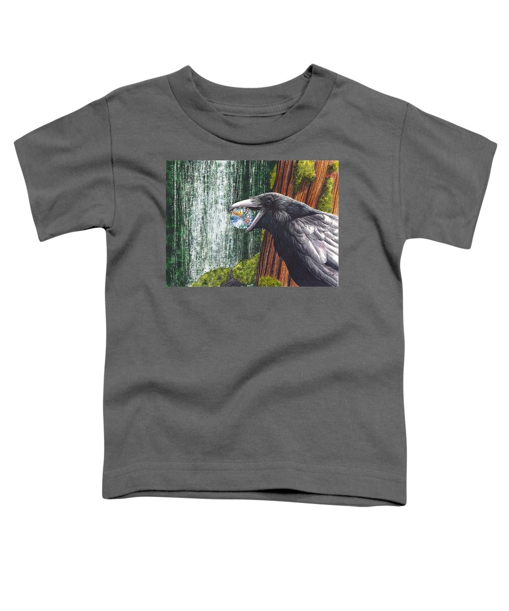 Raven Toddler T-Shirt featuring the painting Sparkle by Catherine G McElroy